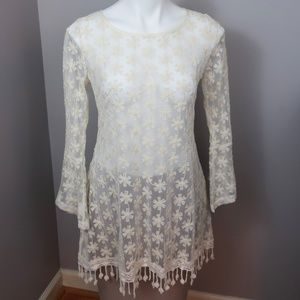 Anthropologie NWT A'Reve Cream Tunic Size Large
